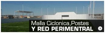 Malla ciclonica, postes y red perimetral