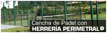Cancha de Pádel con Herrería Perimetral